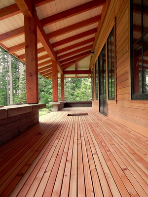 Island Fir Deck Beams